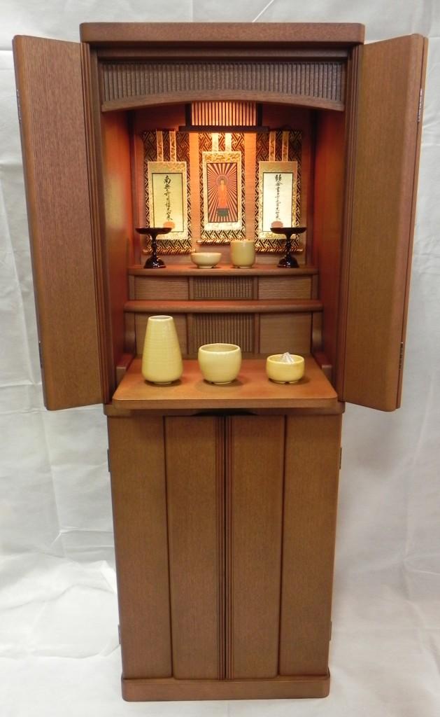 【本数限定品】 タモ材 下台付お仏壇