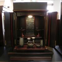 22.本黒檀の小さなお仏壇(お供え台付)