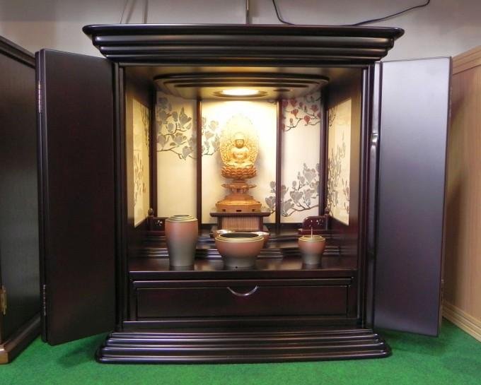 20.蒔絵がきれいな上置きお仏壇
