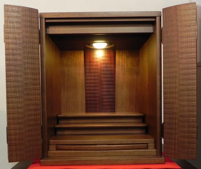 25.ウォールナットの小さなお仏壇